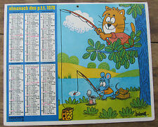 ANCIEN CALENDRIER ALMANACH BARBEROUSSE PUY DE DOME 1978 CHAT CHIEN
