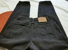 Women's Vintage Levi's 550 Size 12 High Waisted Tapered Leg Mom Jeans Black