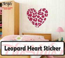 Leopard Love Heart Custom Wall Vinyl Sticker