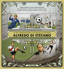 Niger 2016 MNH Alfredo di Stefano 90th Birth Anniv 4v M/S Football Soccer Stamps