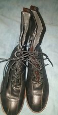 STONEFLY BLACK LEATHER LADIES/WOMEN LACE UP BOOTS SIZE EURO 41 US 10.5