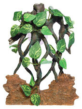 Sucker Mounted Rock & Vine Background Terrarium Vivarium Ornament Decoration