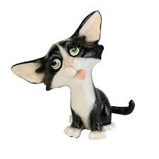 Arora Little Paws Fizz Black & White Cat Figurine Ornament Cat Lovers Gifts