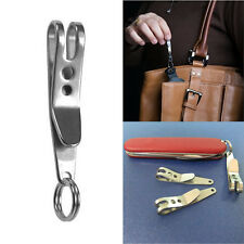 EDC Bag Suspension Clip Keychain Carabiner Stainless Steel Quicklink Tool  VO9