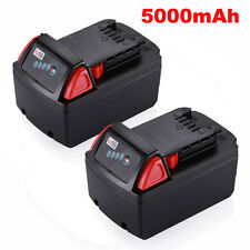 (2) For Milwaukee M18 Red Lithium XC 5.0 AH Extended Capacity Battery 48-11-1852
