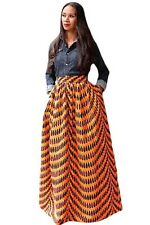 New Ladies Deluxe African Print Maxi Skirt /Casual/Party/Evening Size S UK 8-10