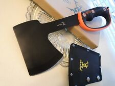 Elk Ridge Colombian Axe Hatchet Knife w Hand Guard Full Tang ER-AXE1 w Sheath