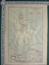 HISTORICAL MAP BATTLE PLAN + TEXT ~ WARS WITH ANTIOCHUS NABIS 190 BC THERMOPYLAE