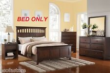 1pc Cal King Size Bed Arch Design Headboard Footboard Bedroom Furniture Pine