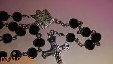 KNIGHTS OF COLUMBUS Rosary- Black 20 inches
