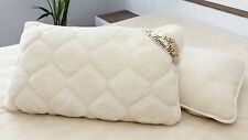 "CASHMERE 100% Merino Wool Pillow 23"" x 36"" / 58 x 92cm WOOLMARKED  zippeed cover"
