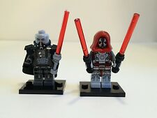 Custom Star Wars Darth Malgus & Sith Lord Battlemaster Minifigures +1 Lego Brick