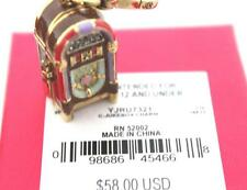 NWT Juicy Couture Gold Retro JUKEBOX CHARM Opens Crystal Music Locket Juke Box