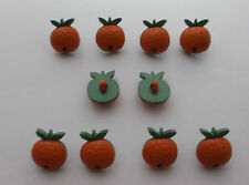 Orange Fruit Novelty Buttons x 10
