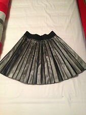 Womens Thick Grey Pleated Skirt With Stretchy Waist From Primark