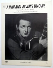 DAVID HOUSTON Sheet Music A WOMAN ALWAYS KNOWS 70's COUNTRY Western