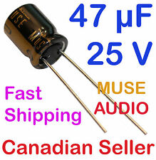 2pcs 47uF 25V 10x12.5mm Nichicon KZ MUSE AUDIO for AMPLIFIER STEREO Hi-Fi RADIO