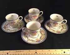 4 Vintage Demitasse Sets Schlaggenwald Czechoslovakian SCL50 Fine China 1930's