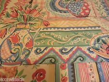 COLLIER CAMPBELL GYPSY DANCE PATTERN GREEN/YELLOW/RED SCARF VALANCE