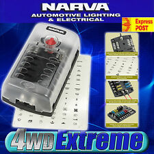 NARVA 12 WAY FUSE BLOCK BOX HOLDER ATS BLADE CARAVAN DUAL BATTERY 12V NEW 54450
