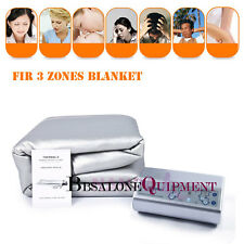 3 Zones FIR Infrared Heating  Blanket Sauna SPA Detox Fitness Body Slim Machine