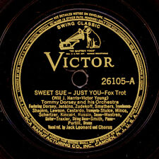 TOMMY DORSEY & HIS ORCH. Sweet Sue / Just you  Schellackplatte  78rpm    X3109