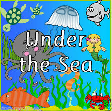 UNDER THE SEA topic teacher teaching  resource KS1 CHILDMINDER EYFS Resources cd
