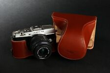 Genuine real Leather Full Camera Case bag Cover for Olympus EP5 E-P5 Bottom Open