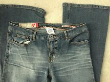 GUESS Stretch Denim Light Wash Faded Boot Cut Skinny Fit & Flare Blue Jeans 29