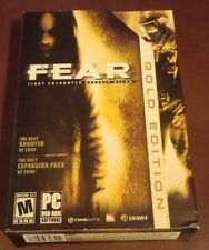 PC Game FEAR Gold Edition Complete 1 DVD Box Manual Excellent Condition