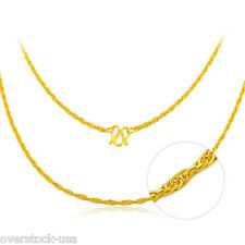 NEW 16INCH 24K Yellow Gold Necklace Special Link Chain / 2~3G