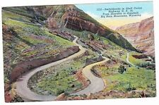 SWITCHBACKS IN SHELL CANON--RT 14 BIG HORN MOUNTAINS WYOMING--- POSTCARD