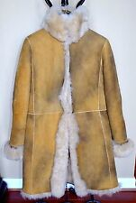 ANNE KLEIN Toscana Lamb Shearling Jacket Coat Sz.14 (fits 10-12) Classic Chic!