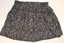 No Strings Attached Black/Gray Patterened Skirt Size S Womens