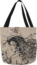 Star IV ~ African American Woman Ebony Tapestry Tote Bag ~ Artist, Saro