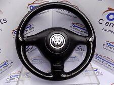 VW Golf Mk4 GT TDI GTI Leather 3 Spoke Steering Wheel and Airbag 4B1C