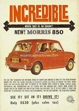 1961 AUSTRALIAN MORRIS MINI 850 A3 POSTER AD SALES BROCHURE ADVERT ADVERTISEMENT