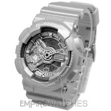 **NEW** CASIO G-SHOCK MENS HYPER COMPLEX SILVER WATCH - GA-110BC-8A - RRP £130