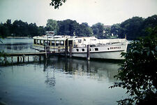 Privat Dia Foto Barkasse Schiff weisse Flotte Rheinpfalz, Fridericus Rex  1969