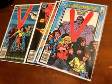 V #1,2,4,5,6,7,8,9 (1985) DC lot of 8 VISITORS ARE OUR FRIENDS based on TV show
