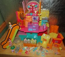 POLLY POCKET FASHION WORLD DOLL DESIGNER MALL STORE PLAYSET PET COUNTER SET LOT