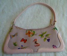 Vintage Matt & Nat Montreal Vegan Pink Butterflies & Flowers Women's Small Purse