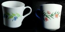 2 Corelle MY GARDEN Flowers Coffee Mugs HTF Floral Retired Pattern Made in USA