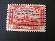 *CANADA, SCOTT # 203, 20c. VALUE BROWN RED 1933 GRAIN CONFERENCE ISSUE USED