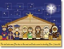 MRT Kids Advent Calendar Nativity Crib Scene Childrens Christmas Decoration Gift