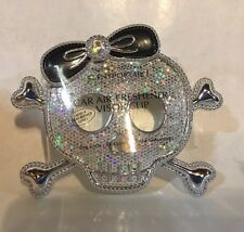 BATH & BODY WORKS BLING SKULL SCENTPORTABLE HOLDER CAR FRESHENER VISOR CLIP.