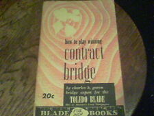 1946 how to play winning contract bridge by Charles H. Goren s40b