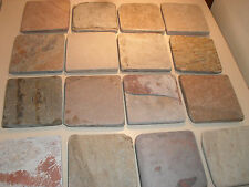 Natural Stone Slate Coasters Set Of 4 With Full Cork Back