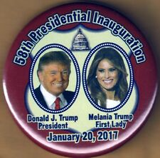 Donald J. Trump Melania Trump 58th Presidential Inauguration  Campaign Button