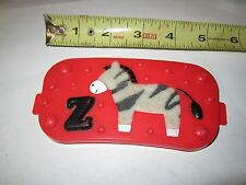 Evenflo Exersaucer Red Replacement Part Z Zebra Soft Piece Toy Used